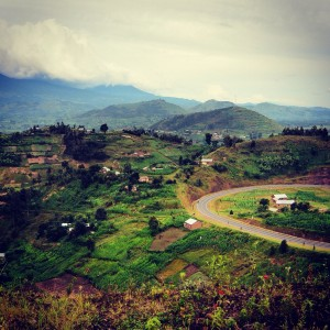The winding road to Kisoro!